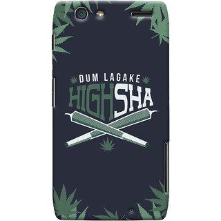 Oyehoye Dum Laga Ke Highsha Quirky Printed Designer Back Cover For Motorola Razr Maxx Mobile Phone - Matte Finish Hard Plastic Slim Case