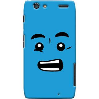 Oyehoye Quirky Smiley Printed Designer Back Cover For Motorola Razr Maxx Mobile Phone - Matte Finish Hard Plastic Slim Case