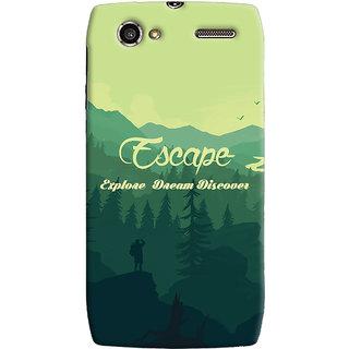 Oyehoye Travellers Escape Printed Designer Back Cover For Motorola RAZR V XT885 Mobile Phone - Matte Finish Hard Plastic Slim Case