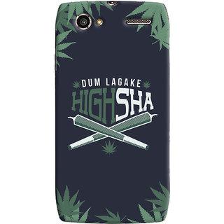 Oyehoye Dum Laga Ke Highsha Quirky Printed Designer Back Cover For Motorola RAZR V XT885 Mobile Phone - Matte Finish Hard Plastic Slim Case