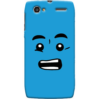 Oyehoye Quirky Smiley Printed Designer Back Cover For Motorola RAZR V XT889 Mobile Phone - Matte Finish Hard Plastic Slim Case