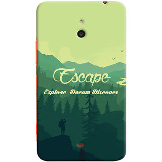 Oyehoye Travellers Escape Printed Designer Back Cover For Microsoft Lumia 1320 Mobile Phone - Matte Finish Hard Plastic Slim Case
