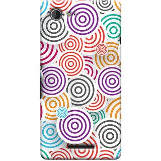 Oyehoye Colourful Pattern Printed Designer Back Cover For Sony Xperia E3 Mobile Phone - Matte Finish Hard Plastic Slim Case