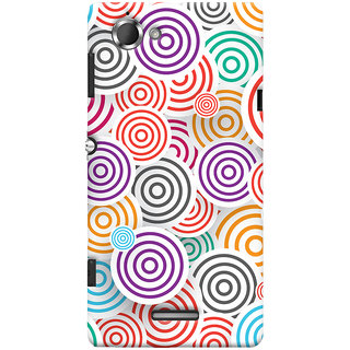 Oyehoye Colourful Pattern Printed Designer Back Cover For Sony Xperia L Mobile Phone - Matte Finish Hard Plastic Slim Case