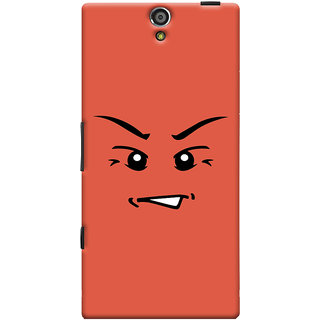 Oyehoye Angry Smiley Quirky Printed Designer Back Cover For Sony Xperia S Mobile Phone - Matte Finish Hard Plastic Slim Case