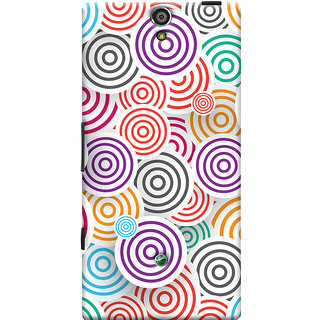 Oyehoye Colourful Pattern Printed Designer Back Cover For Sony Xperia SL Mobile Phone - Matte Finish Hard Plastic Slim Case