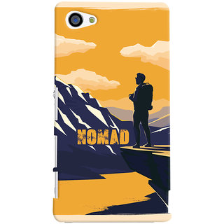 Oyehoye Nomad Travellers Choice Printed Designer Back Cover For Sony Xperia Z3 Compact / Mini Mobile Phone - Matte Finish Hard Plastic Slim Case