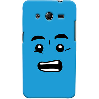 Oyehoye Quirky Smiley Printed Designer Back Cover For Samsung Galaxy Core 2 Mobile Phone - Matte Finish Hard Plastic Slim Case