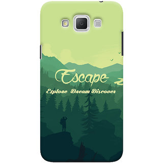 Oyehoye Travellers Escape Printed Designer Back Cover For Samsung Galaxy Grand Max Mobile Phone - Matte Finish Hard Plastic Slim Case