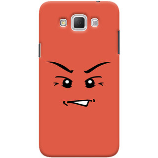 Oyehoye Angry Smiley Quirky Printed Designer Back Cover For Samsung Galaxy Grand Max Mobile Phone - Matte Finish Hard Plastic Slim Case