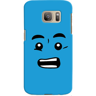 Oyehoye Quirky Smiley Printed Designer Back Cover For Samsung Galaxy S7 Edge Mobile Phone - Matte Finish Hard Plastic Slim Case