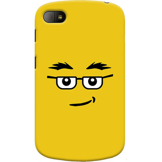 Oyehoye Quirky Smiley Expression Printed Designer Back Cover For Blackberry Q10 Mobile Phone - Matte Finish Hard Plastic Slim Case