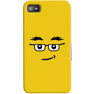 Oyehoye Quirky Smiley Expression Printed Designer Back Cover For Blackberry Z1O Mobile Phone - Matte Finish Hard Plastic Slim Case