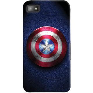 Oyehoye Captain America Printed Designer Back Cover For Blackberry Z1O Mobile Phone - Matte Finish Hard Plastic Slim Case