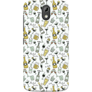 Oyehoye Patter Style Printed Designer Back Cover For HTC Desire 526G Plus / Dual Sim Mobile Phone - Matte Finish Hard Plastic Slim Case