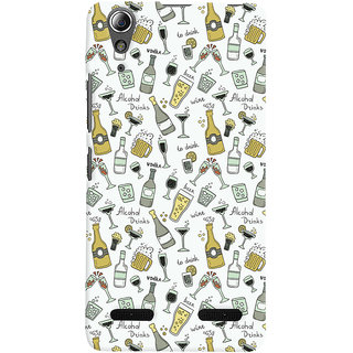 Oyehoye Patter Style Printed Designer Back Cover For Lenovo A6000 Mobile Phone - Matte Finish Hard Plastic Slim Case