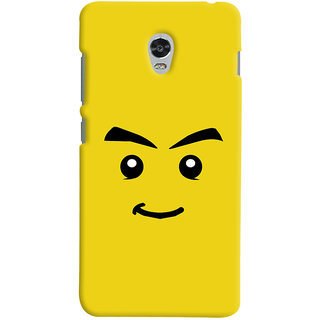 Oyehoye Sarcastic Smiley Quirky Printed Designer Back Cover For Lenovo Vibe P1M Mobile Phone - Matte Finish Hard Plastic Slim Case