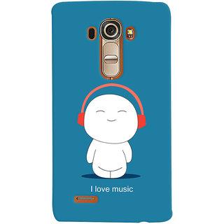 Oyehoye I Love Music Printed Designer Back Cover For LG G4 H818N Mobile Phone - Matte Finish Hard Plastic Slim Case