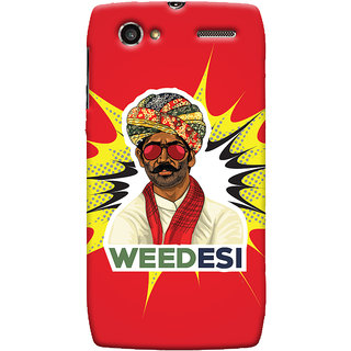 Oyehoye WEEDesi Quirky Style Printed Designer Back Cover For Motorola RAZR V XT889 Mobile Phone - Matte Finish Hard Plastic Slim Case