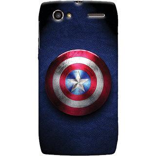 Oyehoye Captain America Printed Designer Back Cover For Motorola RAZR V XT889 Mobile Phone - Matte Finish Hard Plastic Slim Case