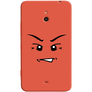 Oyehoye Angry Smiley Quirky Printed Designer Back Cover For Microsoft Lumia 1320 Mobile Phone - Matte Finish Hard Plastic Slim Case