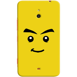 Oyehoye Sarcastic Smiley Quirky Printed Designer Back Cover For Microsoft Lumia 1320 Mobile Phone - Matte Finish Hard Plastic Slim Case