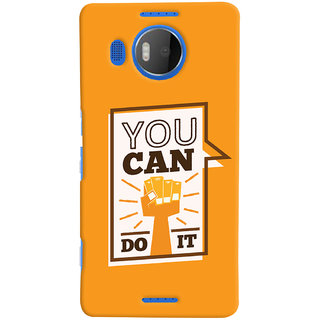 Oyehoye Motivational Quote Printed Designer Back Cover For Microsoft Lumia 950 XL Mobile Phone - Matte Finish Hard Plastic Slim Case