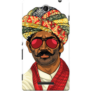 Oyehoye Desi Swag Quirky Printed Designer Back Cover For Sony Xperia C Mobile Phone - Matte Finish Hard Plastic Slim Case