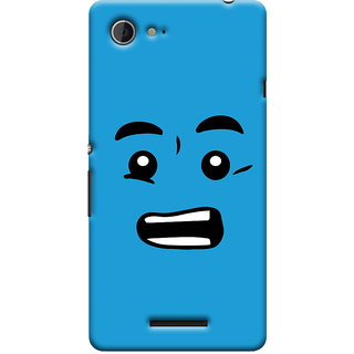 Oyehoye Quirky Smiley Printed Designer Back Cover For Sony Xperia E3 Mobile Phone - Matte Finish Hard Plastic Slim Case