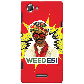 Oyehoye WEEDesi Quirky Style Printed Designer Back Cover For Sony Xperia L Mobile Phone - Matte Finish Hard Plastic Slim Case