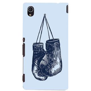 Oyehoye Boxing Minimal Art Printed Designer Back Cover For Sony Xperia M4 Aqua/Dual Sim Mobile Phone - Matte Finish Hard Plastic Slim Case