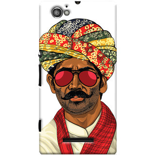 Oyehoye Desi Swag Quirky Printed Designer Back Cover For Sony Xperia M Mobile Phone - Matte Finish Hard Plastic Slim Case