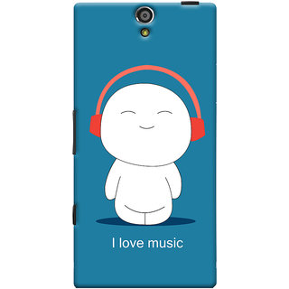Oyehoye I Love Music Printed Designer Back Cover For Sony Xperia S Mobile Phone - Matte Finish Hard Plastic Slim Case