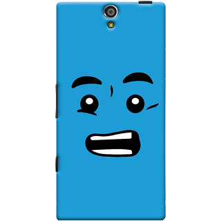 Oyehoye Quirky Smiley Printed Designer Back Cover For Sony Xperia S Mobile Phone - Matte Finish Hard Plastic Slim Case