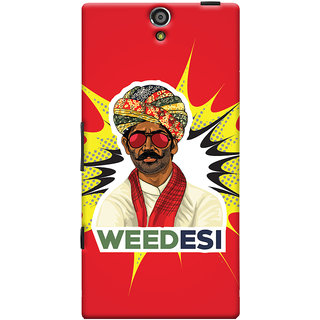 Oyehoye WEEDesi Quirky Style Printed Designer Back Cover For Sony Xperia S Mobile Phone - Matte Finish Hard Plastic Slim Case