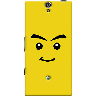 Oyehoye Sarcastic Smiley Quirky Printed Designer Back Cover For Sony Xperia SL Mobile Phone - Matte Finish Hard Plastic Slim Case