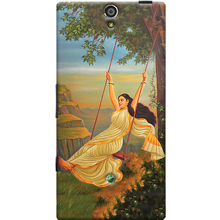 Oyehoye Meera Mythological Art Printed Designer Back Cover For Sony Xperia SL Mobile Phone - Matte Finish Hard Plastic Slim Case