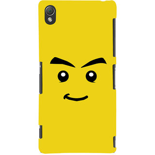 Oyehoye Sarcastic Smiley Quirky Printed Designer Back Cover For Sony Xperia Z3 Compact / Mini Mobile Phone - Matte Finish Hard Plastic Slim Case