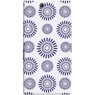 Oyehoye Pattern Style Printed Designer Back Cover For Sony Xperia Z Ultra Mobile Phone - Matte Finish Hard Plastic Slim Case
