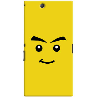 Oyehoye Sarcastic Smiley Quirky Printed Designer Back Cover For Sony Xperia Z Ultra Mobile Phone - Matte Finish Hard Plastic Slim Case