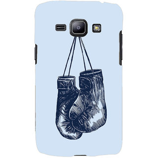 Oyehoye Boxing Minimal Art Printed Designer Back Cover For Samsung Galaxy J1 (2016 Edition) Mobile Phone - Matte Finish Hard Plastic Slim Case