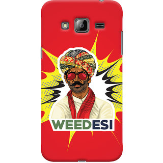 Oyehoye WEEDesi Quirky Style Printed Designer Back Cover For Samsung Galaxy J3 (2016) Mobile Phone - Matte Finish Hard Plastic Slim Case