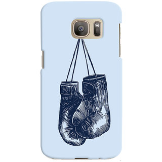 Oyehoye Boxing Minimal Art Printed Designer Back Cover For Samsung Galaxy S7 Edge Mobile Phone - Matte Finish Hard Plastic Slim Case