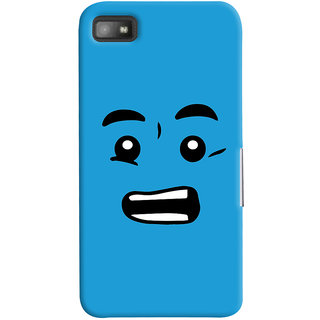 Oyehoye Quirky Smiley Printed Designer Back Cover For Blackberry Z1O Mobile Phone - Matte Finish Hard Plastic Slim Case