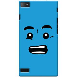 Oyehoye Quirky Smiley Printed Designer Back Cover For Blackberry Z3 Mobile Phone - Matte Finish Hard Plastic Slim Case