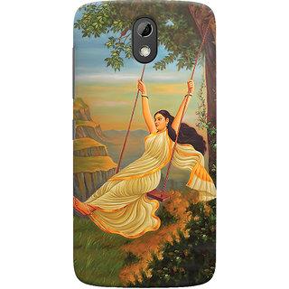 Oyehoye Meera Mythological Art Printed Designer Back Cover For HTC Desire 526G Plus / Dual Sim Mobile Phone - Matte Finish Hard Plastic Slim Case