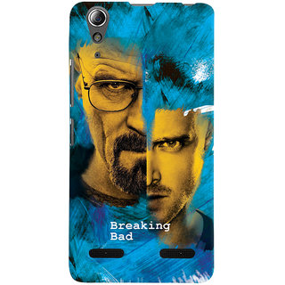 Oyehoye Breaking Bad Printed Designer Back Cover For Lenovo A6000 Mobile Phone - Matte Finish Hard Plastic Slim Case