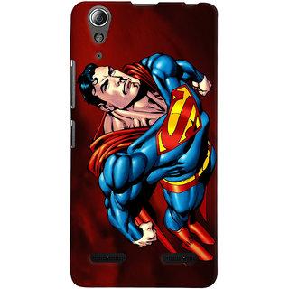 Oyehoye Superman Printed Designer Back Cover For Lenovo A6000 Mobile Phone - Matte Finish Hard Plastic Slim Case