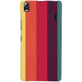 Oyehoye Colourfull Pattern Style Printed Designer Back Cover For Lenovo A7000 Mobile Phone - Matte Finish Hard Plastic Slim Case