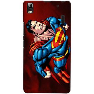 Oyehoye Superman Printed Designer Back Cover For Lenovo A7000 Mobile Phone - Matte Finish Hard Plastic Slim Case